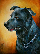 Pets Paintings - Beaux by Michael Lang