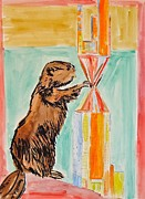 Beaver Painting Prints - Beaver Fever Print by Troy Thomas