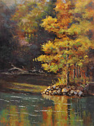 Arkansas Pastels Originals - Beaver Spring by Cristine Sundquist