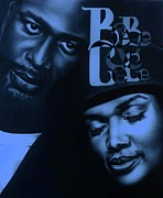 Carl Baker Art - BeBe and CeCe Winans Relationships by Carl Baker