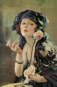 Illustrator Painting Metal Prints - Bebe Daniels Metal Print by Stefan Kuhn