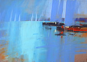 Featured Pastels Framed Prints - Becalmed Framed Print by Tony Allain