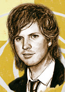 Songwriter Mixed Media - Beck Hansen - stylised drawing art poster by Kim Wang