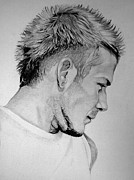 Soccer Drawings Originals - Beckham by Pooja Rohra
