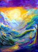 Meditation Paintings - Beckoning Light by Jane Small