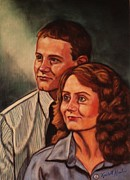 Shirt Pastels Prints - Becky and Ron Yearout Print by Kendall Kessler