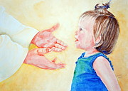 Child Jesus Paintings - Become Like a Little Child by Shirleen Bland