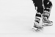 Hockey Player Photos - Becomes the Ice by Karol  Livote