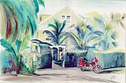 Key West Paintings - Bed and Breakfast by Jim Burris