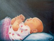 Infant Prints - Bed Time Prayer Print by Joni McPherson