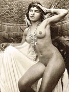 REPRODUCTION - Bedouin Girl posed nude