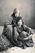 Bedouin Prints - Bedouin Women from Jericho Print by Munir Alawi