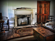 Wooden Floor Posters - Bedroom - Colonial Style Poster by Paul Ward