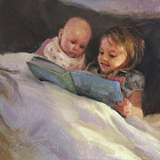 Sisters Metal Prints - Bedtime Bible Stories Metal Print by Anna Bain