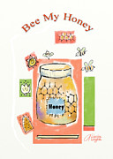 Honeycomb Framed Prints - Bee My Honey Framed Print by Arline Wagner