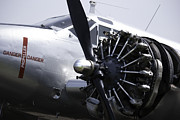 Plane Radial Engine Framed Prints - Beechcraft AT-7 Engine Framed Print by Stuart Fowle