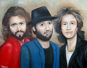 Rock And Roll Painting Originals - BeeGees Forever by Patrice Torrillo