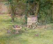 Doves Paintings - Beehive and Doves by Joyce Haddon