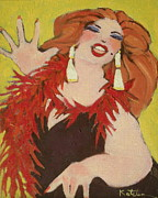 Drag Paintings - Been There Done that by Carole Katchen