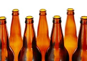 Bottle. Bottling Photo Posters - Beer Bottles Poster by Jim Hughes