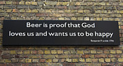 Sally Weigand - Beer Is Proof Sign