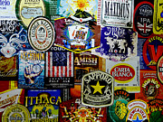 Beer Labels Print by Richard Reeve
