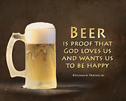 Beer Print by Lori Deiter