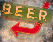 Squint Posters - Beer This Way Poster by Sonja Quintero