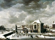 Winter Sports Picture Prints - Beerstraten, Abraham Van 1622-1666 Print by Everett