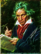 Alternative Music Paintings - Beethoven by Andreas Konstantinidis