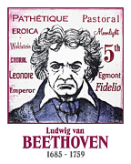 Orchestra Drawings Metal Prints - Beethoven Metal Print by Paul Helm