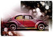 Beetle Art - Beetle Car by David Ridley