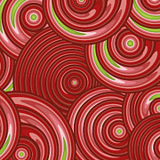 Spirals Posters - Beetroot Pink Abstract Poster by Frank Tschakert