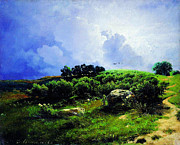 Delacroix Prints - Before A Thunderstorm1869 Print by MotionAge Art and Design - Ahmet Asar