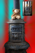 Disney Bear Photos - Before and After Sample Art 31 Stove Top Bear by Thomas Woolworth