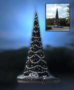 Magic Kingdom Photographs Posters - Before and After Sample Art 39 Hollywood Xmas Tree Poster by Thomas Woolworth