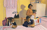 Black Artist Painting Posters - Before School Poster by Colin Bootman