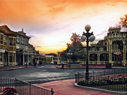 Walt Disney World Photographs Framed Prints - Before The Gates Open Magic Kingdom Walt Disney World Framed Print by Thomas Woolworth