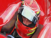 Indy Car Mixed Media Prints - Before The Green Flag Print by Dennis Buckman