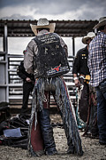 Bull Riders Prints - Before The Ride Print by Amber Kresge