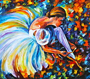 Ballet Painting Originals - Before The Show 2  by Leonid Afremov