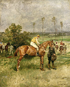 Races Paintings - Before the Start by John Lewis Brown