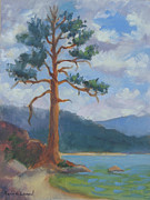 Lake Tahoe Paintings - Before the Storm Bliss State Park  by Karin  Leonard