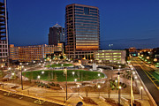 City Center Photos - Before the Sun - Greensboro Center City Park by Dan Carmichael