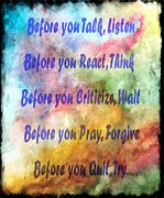 Criticize Art - Before You Quit 3 by Barbara Griffin
