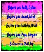 Criticize Art - Before You Quit  by Barbara Griffin
