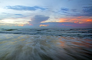 Timelapse Framed Prints - Beginnings at Topsail Framed Print by Betsy A Cutler East Coast Barrier Islands
