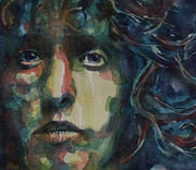 Singer Songwriter Paintings - Behind Blue Eyes by Paul Lovering