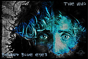 Behind Blue Eyes - The Who Print by Absinthe Art By Michelle LeAnn Scott