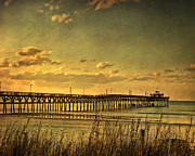 Myrtle Beach Prints - Behind Cherry Grove Pier  Print by Trish Tritz